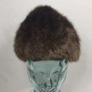 Real Beaver Lush Brown fur hat 21 quilted lining